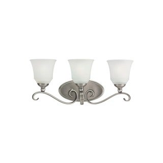 Sea Gull Parkview 3-light Antique Brushed Nickel Bath Bar