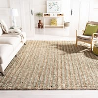 Safavieh Casual Natural Fiber Hand-Woven Sage / Natural Chunky Thick Jute Rug - 9' x 12'