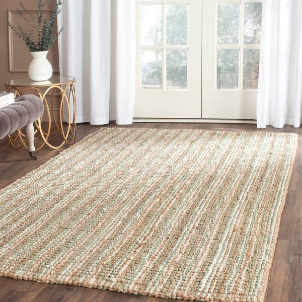 Safavieh Casual Natural Fiber Hand-Woven Sage / Natural Chunky Thick Jute Rug - 8' x 10'