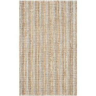 Safavieh Casual Natural Fiber Hand-Woven Grey Chunky Thick Jute Rug (2'6 x 4')