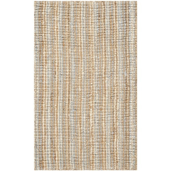 Safavieh Casual Natural Fiber Hand-Woven Grey Chunky Thick Jute Rug (2'6 x 4')