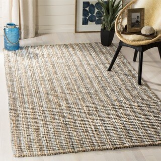 Safavieh Casual Natural Fiber Hand-Woven Grey Chunky Thick Jute Rug (8' Square)