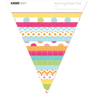 Kaisercraft Bunting Shaped Paper Pad-Pop!