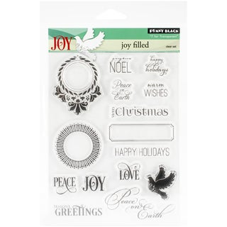 """Penny Black Clear Stamps 5""""X7.5"""" Sheet-Jolly Filled"""