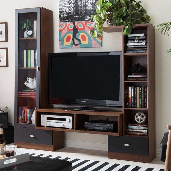 Shop Baxton Studio Empire Sonoma Oak Finishing Modern Tv Stand