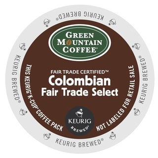 Green Mountain Coffee Colombian Fair Trade Select Coffee Cups for Keurig Brewers