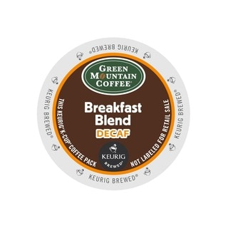 Green Mountain Coffee Breakfast Blend Decaf Coffee K-Cups Portion Pack for Keurig Brewers
