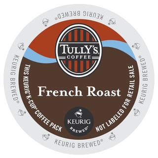Tully's French Roast Extra Bold Coffee K-Cups Portion Pack for Keurig Brewers