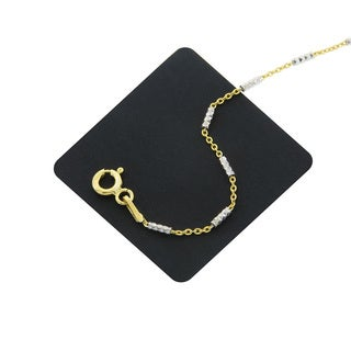 Eternally Haute 2-toned 14k Gold Plated Italian Sterling Silver Brite Chain