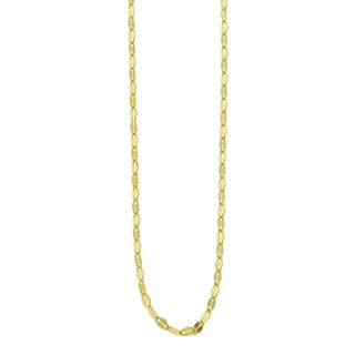 Eternally Haute 14k Gold Plated Italian Sterling Silver Valentino Chain Necklace