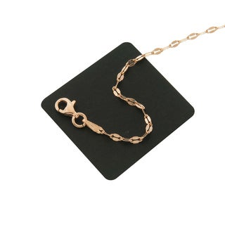 Eternally Haute 14k Rose Gold Plated Silver Italian Sterling Silver Valentino Chain Necklace