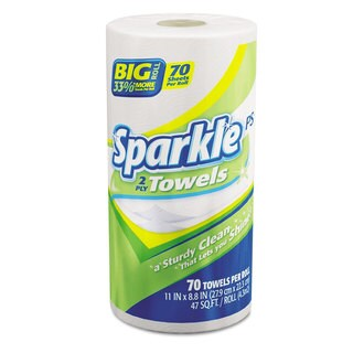 Sparkle PS Two-ply Premium Perforated Paper Towel/ 11 x 8.8/ White (Roll of 70/ Carton of 30)