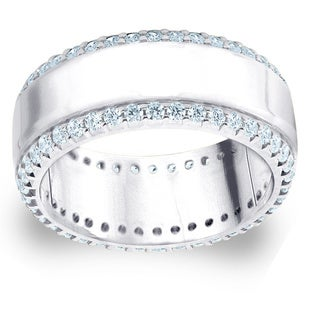 Amore Platinum 1ct TDW Railroad Diamond Anniversary Band