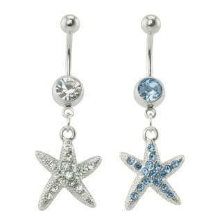 Supreme Jewelry Star Fish with Bling Belly Ring