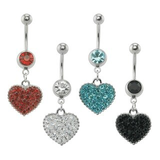 Supreme Jewelry Heart with Bling Belly Ring
