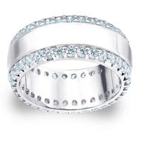 Amore Platinum 1 1/2ct TDW Railroad Diamond Wedding Band