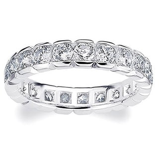 Amore Platinum 2ct TDW Diamond Eternity Band (G-H, SI1-SI2)