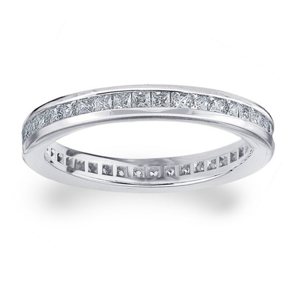 Amore Platinum 1ct TDW Diamond Eternity Wedding Band
