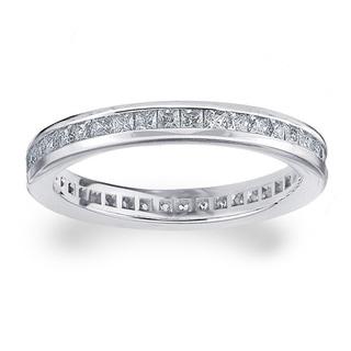 Amore Platinum 1ct TDW Diamond Eternity Wedding Band