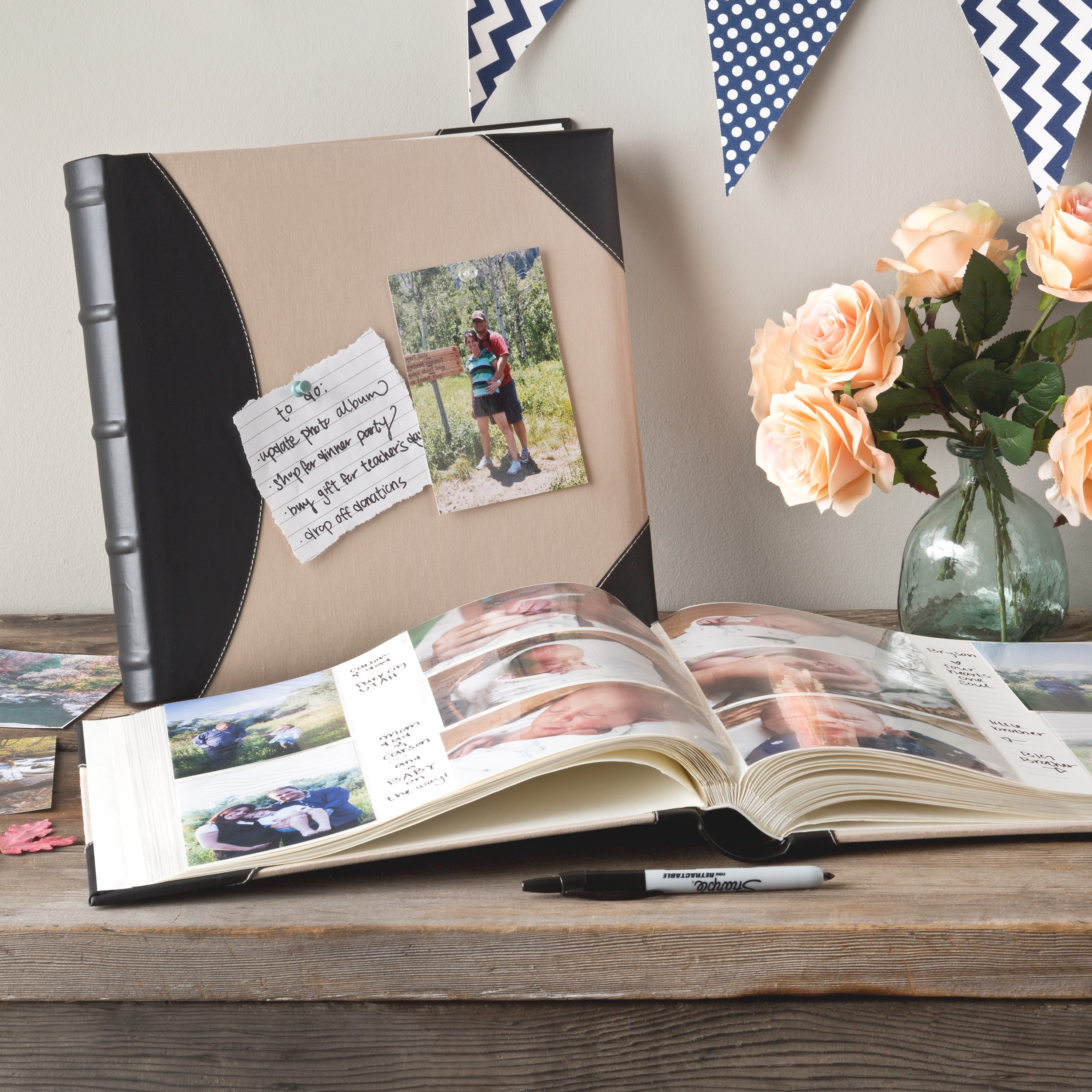 Pioneer Photo Albums High Capacity Pocket Fabric And Leatherette Cover Album Pack Of 2