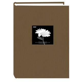 Pioneer 300 Pocket Warm Mocha Fabric Frame Cover Album for 4x6 Prints, Pack of 2