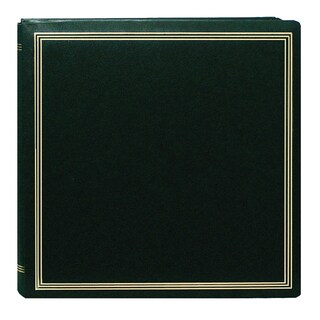 Pioneer Postbound Deluxe Boxed Hunter Green Leatherette Cover with 2 Bonus Refill Packs