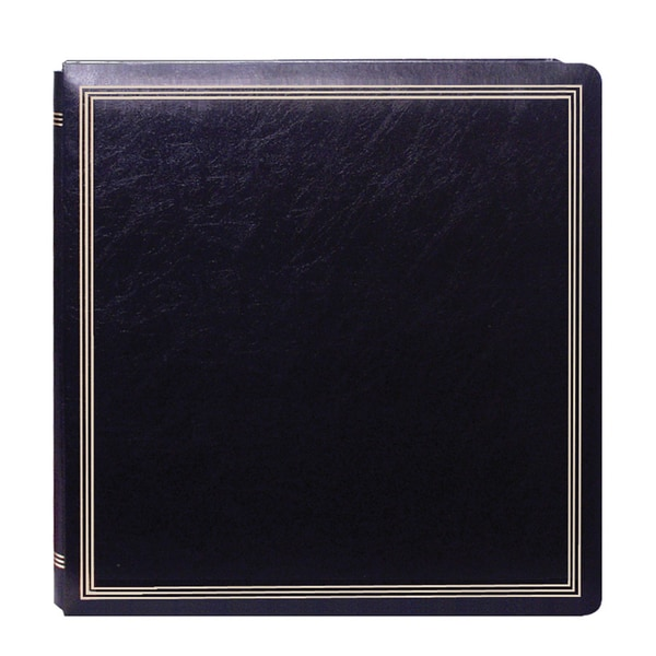 Boxed Photo Albums: Shop Pioneer Postbound Deluxe Boxed Black Leatherette