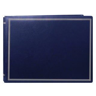 Pioneer Postbound Deluxe Boxed Navy Leatherette Magnetic Album with 2 bonus refill packs