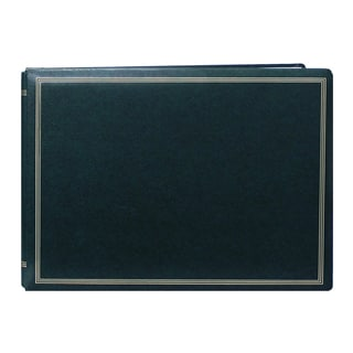 Pioneer Postbound Deluxe Boxed Hunter Green Leatherette Magnetic Album