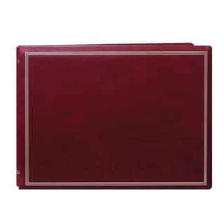 Pioneer Postbound Deluxe Boxed Burgundy Leatherette Magnetic Album with 2 bonus refill packs