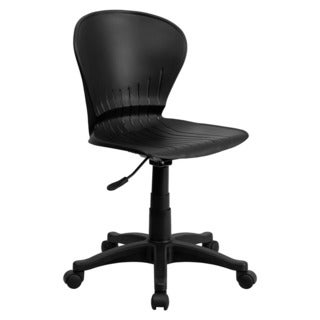Offex Mid-Back Black Plastic Swivel Task Chair