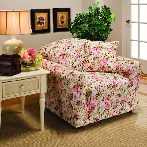 Sanctuary Jersey Stretch Floral Chair Slipcover