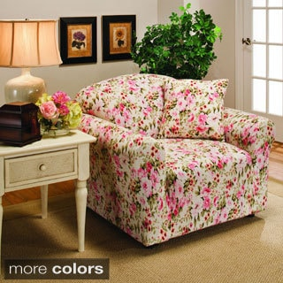 Jersey Stretch Floral Chair Slipcover