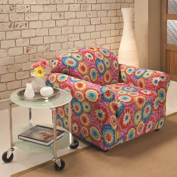 shop sanctuary stretch jersey tie dye chair slipcover free