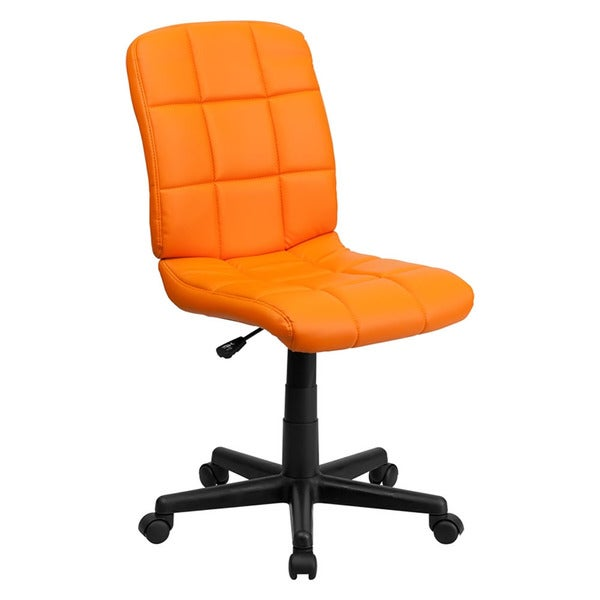 Offex Mid-Back Orange Quilted Vinyl Task Chair