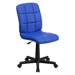 Offex Mid-Back Blue Quilted Vinyl Task Chair
