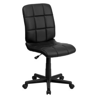 Offex Mid-Back Black Quilted Vinyl Task Chair