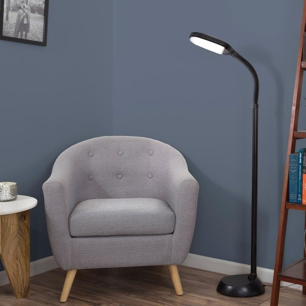 LED Natural Full Spectrum Sunlight Therapy Reading Floor Lamp with Dimmer Switch by Windsor Home