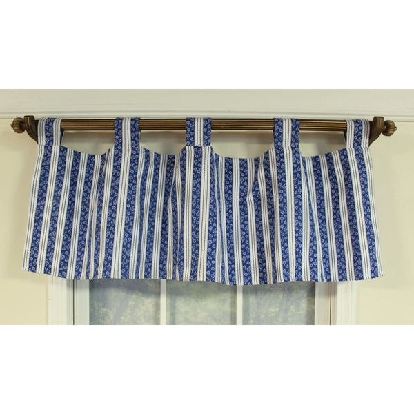 X27 Icicles Blue Tab Top Window Valance