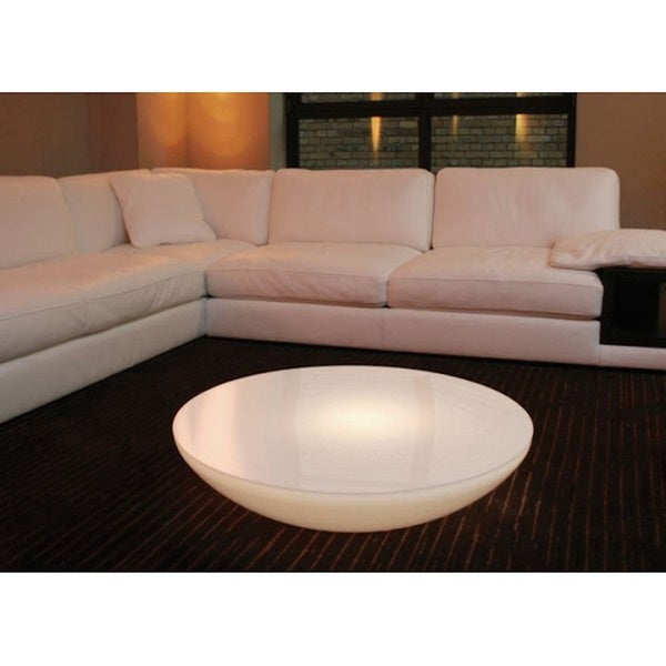 Abbyson Living Havana Round Leather Coffee Table LuminArt Utopia Color-changing Table with Remote - Free Shipping Today ...