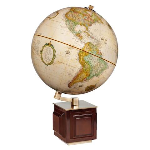 Four Square Wooden Desktop World Map Ball