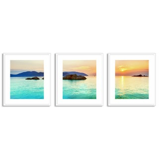 Gallery Direct Olga Khoroshunova's 'Ocean Sunrise' Triptych Art