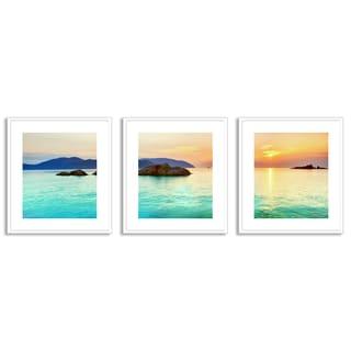 Gallery Direct Olga Khoroshunova's 'Ocean Sunrise' Triptych Art
