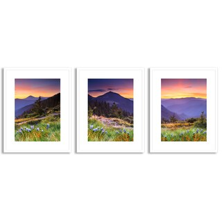 Gallery Direct Leonid Tit's 'Mountain Landscape' Triptych Art