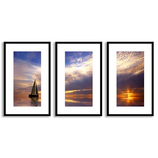 Gallery Direct Eric Gevaert's 'Sailing at Sunset' Triptych Art