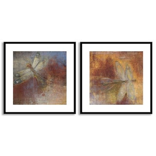 Gallery Direct Maeve Harris's 'Dragonfly I' and 'II' Art Two Piece Set