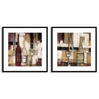 Gallery Direct Jane Bellows's 'The Good Life III' and 'IV' Art Two Piece Set
