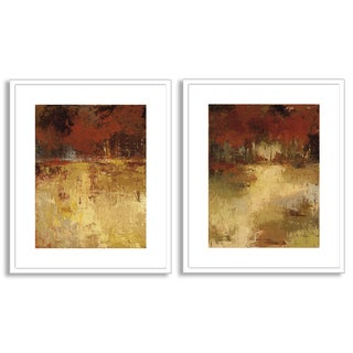 Gallery Direct Caroline Ashton's 'Fall Foliage I' and 'II' Art Two Piece Set