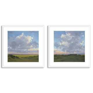 Gallery Direct Kim Coulter's 'Afternoon Sky I' and 'II' Art Two Piece Set