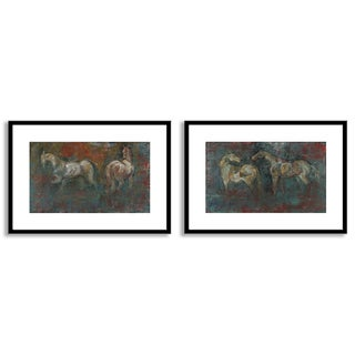 Gallery Direct Maeve Harris's 'Paddock I' and 'II' Art Two Piece Set